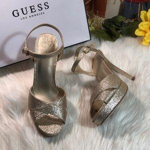 Guess Platform Ankle Strap Sandals 7M